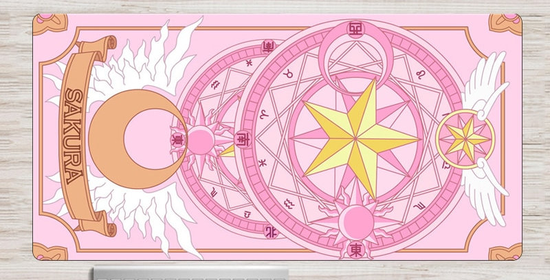 "Geek Gamer | Anime Cardcaptor Sakura  XXL 35""X15"" Mouse Pad 