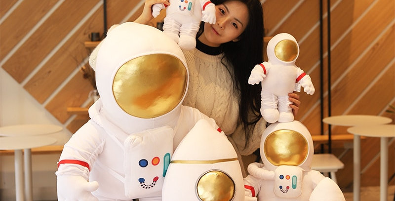 Plush Astronaut and Spaceship Toy
