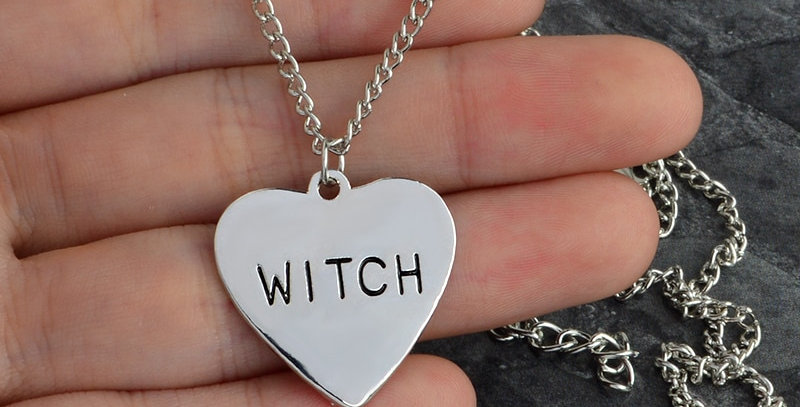 Geek Wear | Witch Heart Engraved Necklace