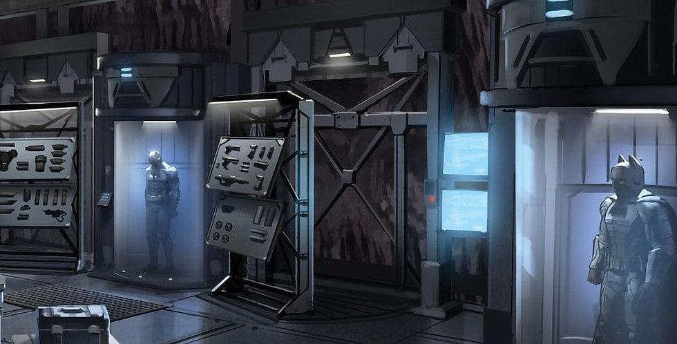 """BATMAN - BATCAVE (ARMOR) - 15""""x15"""" Decal Backdrop for IKEA DETOLF"""