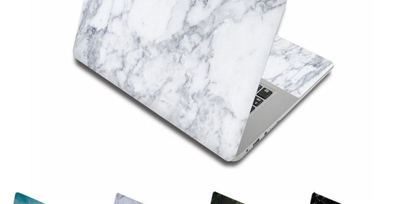 """Marble Grain Laptop Skin Stickers Decals for 15.6"""" Notebook - Apple/Lenovo/HP"""