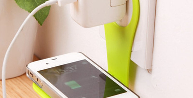 Wall Phone Holder Hanging Stand | Folding Mobile Phone Wall Charger Hook