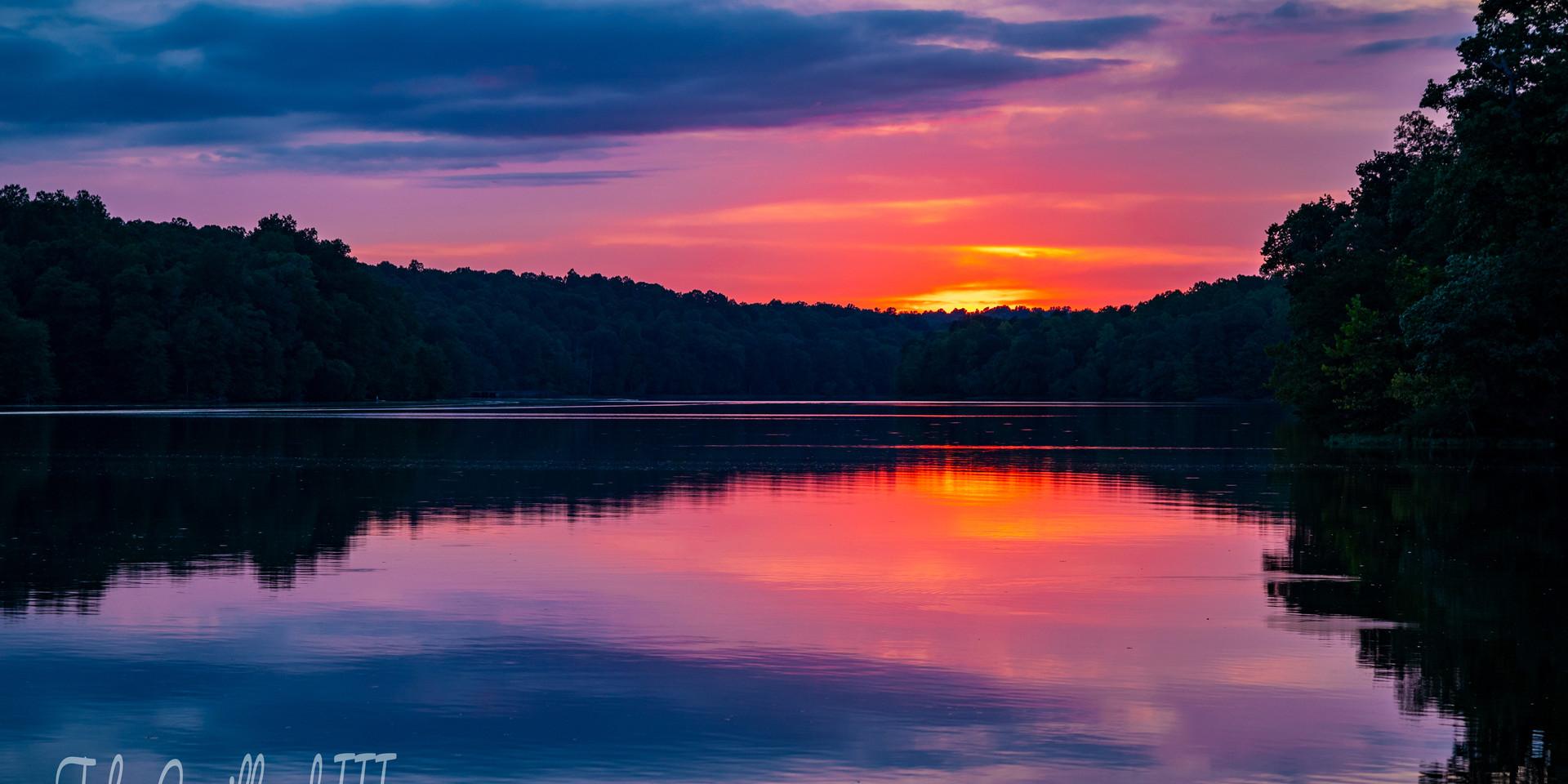 Sunset Over Occoquan Reservoir