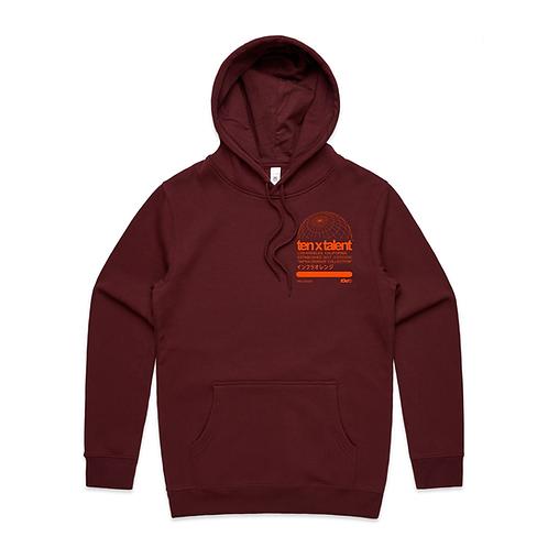 Infra Orange Collection Hoodie (Burgundy)