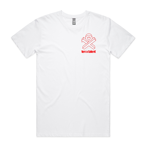 Essential White T (Red X-Man)