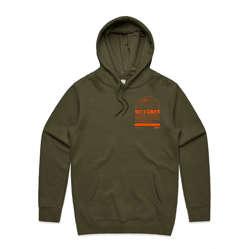 Infra Orange Collection Hoodie (Olive)
