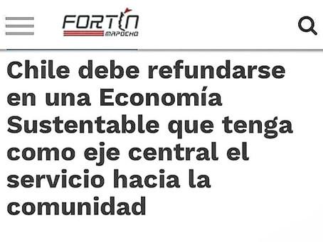 """Entrevista en Fortín Mapocho: """"Chile debe refundarse en una Economía Sustentable"""""""