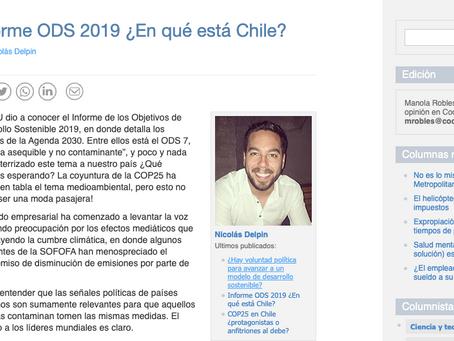 Columna de opinión: Informe ODS 2019 ¿En qué está Chile?