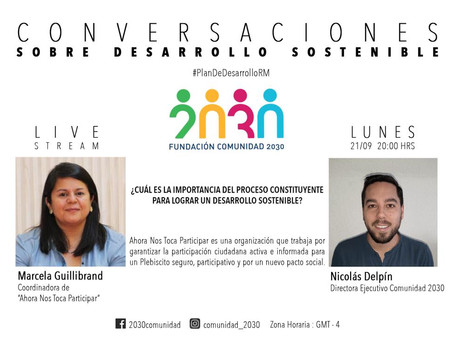 Novena Sesión de Conversaciones Sostenibles: Marcela Guillibrand de Ahora Nos Toca Participar