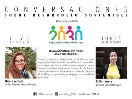 Octava Sesión de Conversaciones Sostenibles: Nicole Vergara  y Victor Farías de Fundación Mingako.