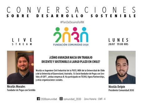 Segunda sesión del segundo ciclo de Conversaciones Sostenibles: Nicolás Morales (Pegas con Sentido)