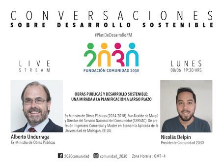 Pospuesta la Sexta sesión de Conversaciones sobre Desarrollo Sostenible con Alberto Undurraga