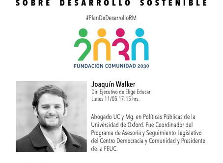 Segunda sesión de Conversaciones sobre Desarrollo Sostenible con Joaquín Walker