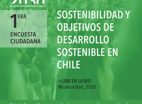 1ª Encuesta ciudadana Sostenibilidad y Objetivos de Desarrollo Sostenible (ODS) en Chile