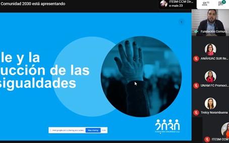 """Comunidad 2030 participa en foro: """"Reducción de desigualdades y desarrollo sostenible en Chile"""""""