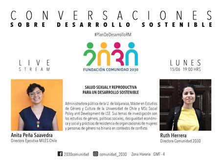 Séptima sesión de Conversaciones sobre Desarrollo Sostenible Anita Peña, directora ejecutiva MILES