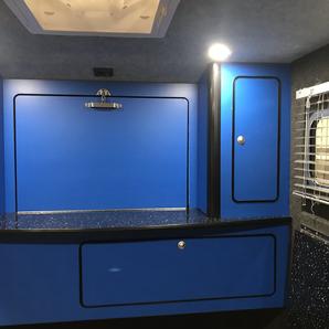 Glampa / blue interior