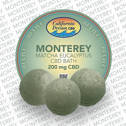 MONTEREY - Matcha Eucalyptus CBD Bath / 200mg