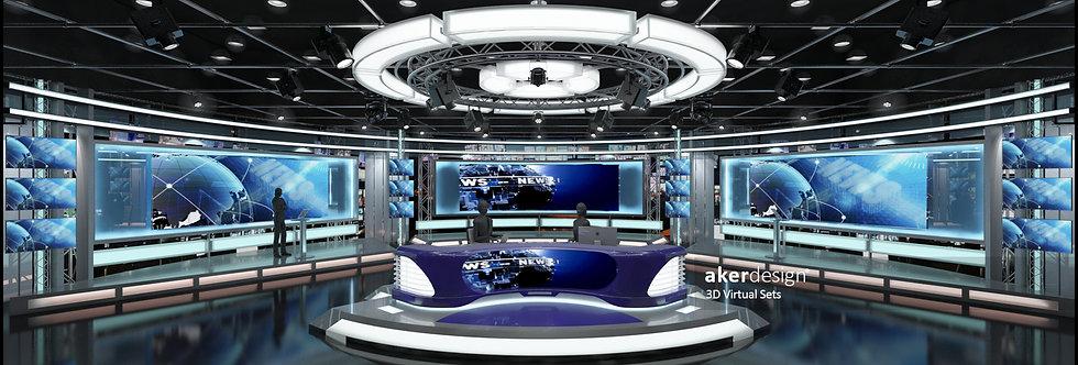 TV Studio News Set 1