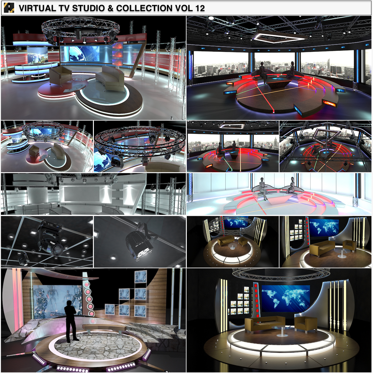 0_04_TV Studio Chat Sets-Collection Vol