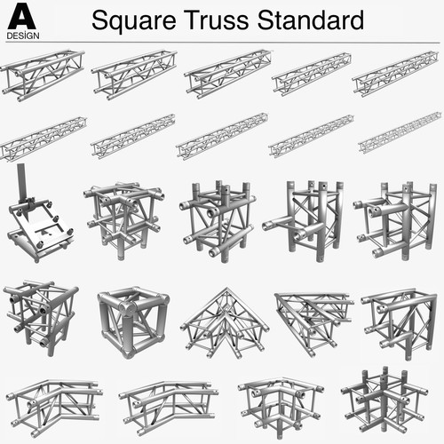 Square Truss Standard Collection (24 Modular Pieces)