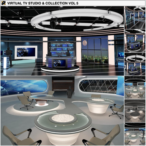 TV Studio News Sets Collection 5