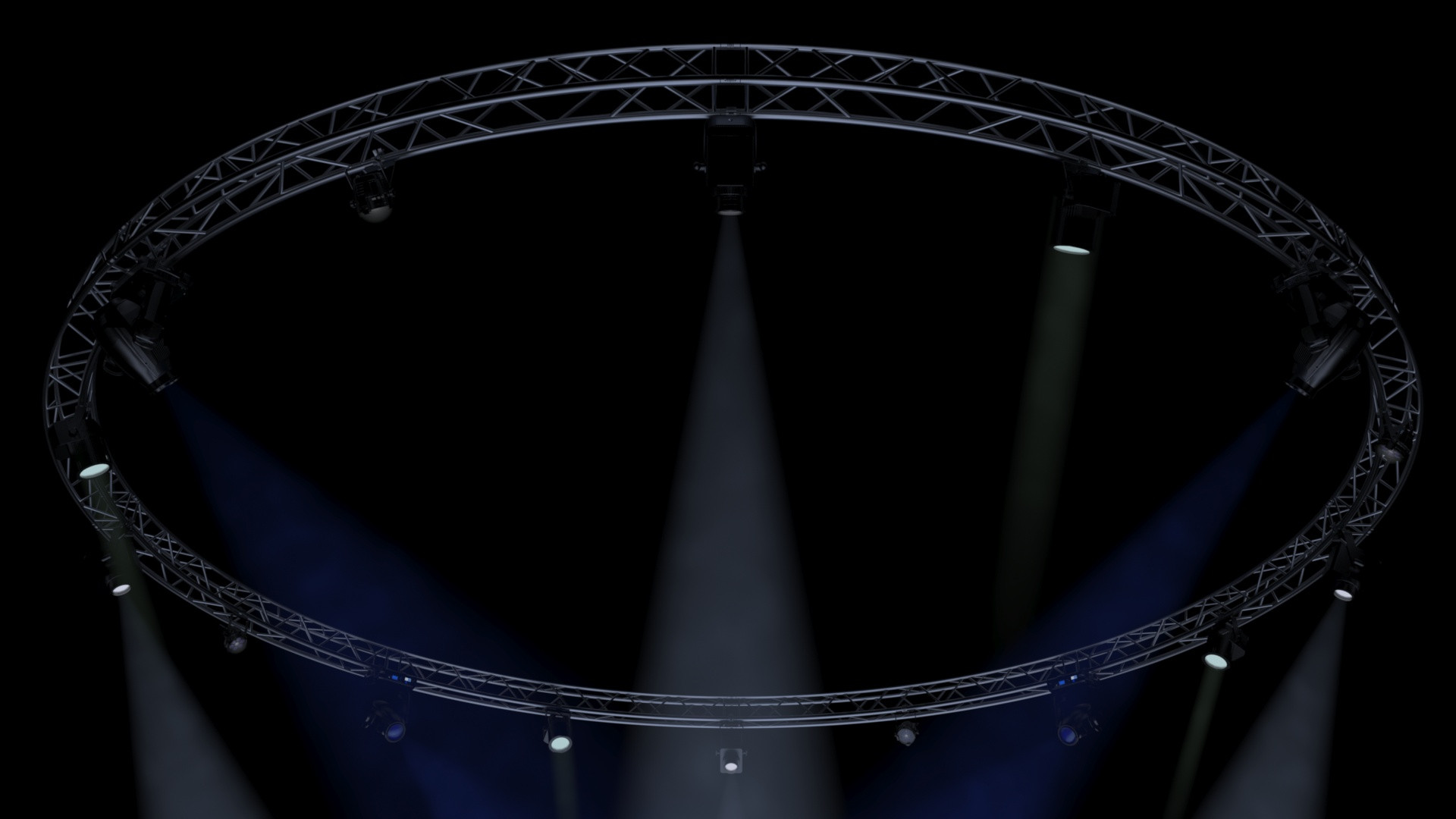 CircleSquare Truss 1000cm-Stage Lights