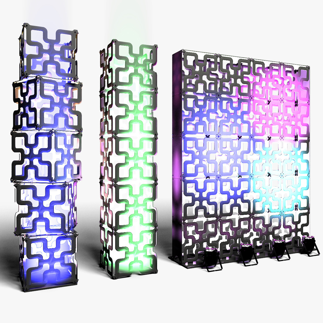 Stage Decor 05 Modular Wall Column