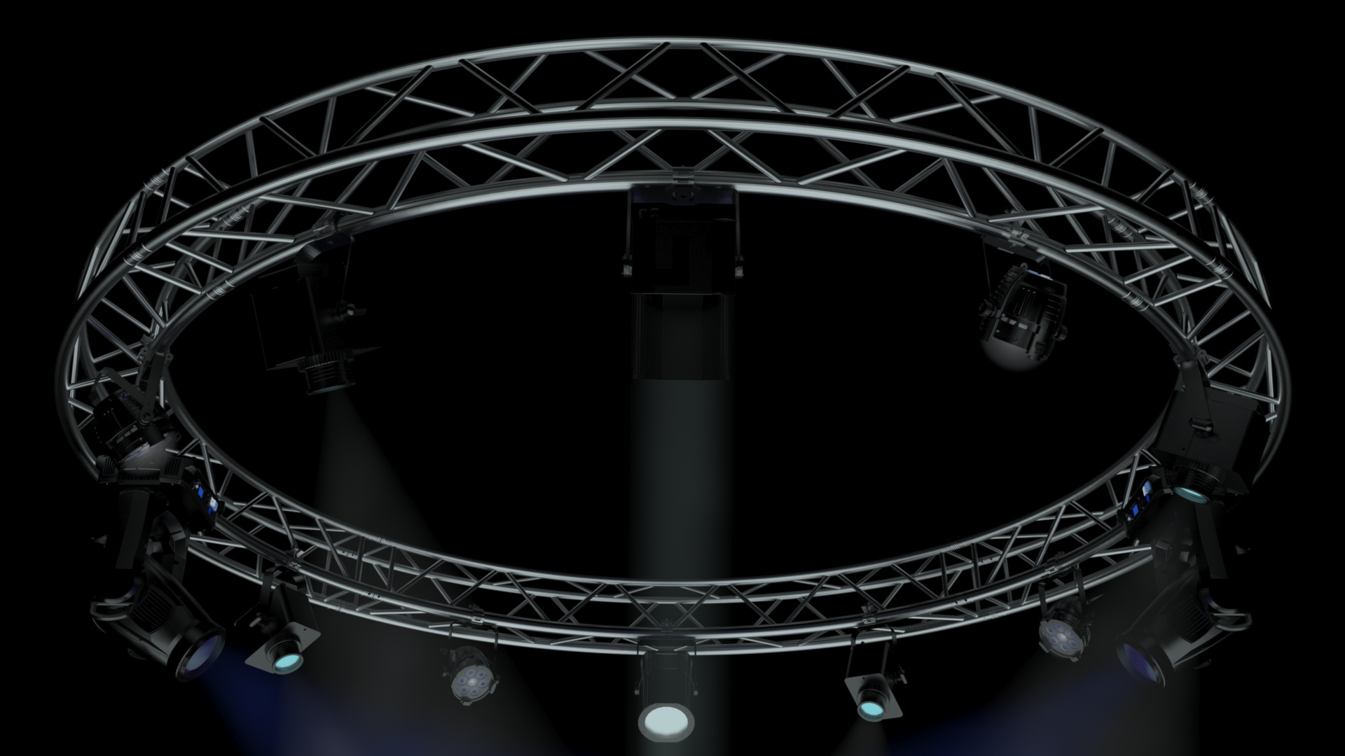 41-05-CircleSquareTruss400cm-StageLights
