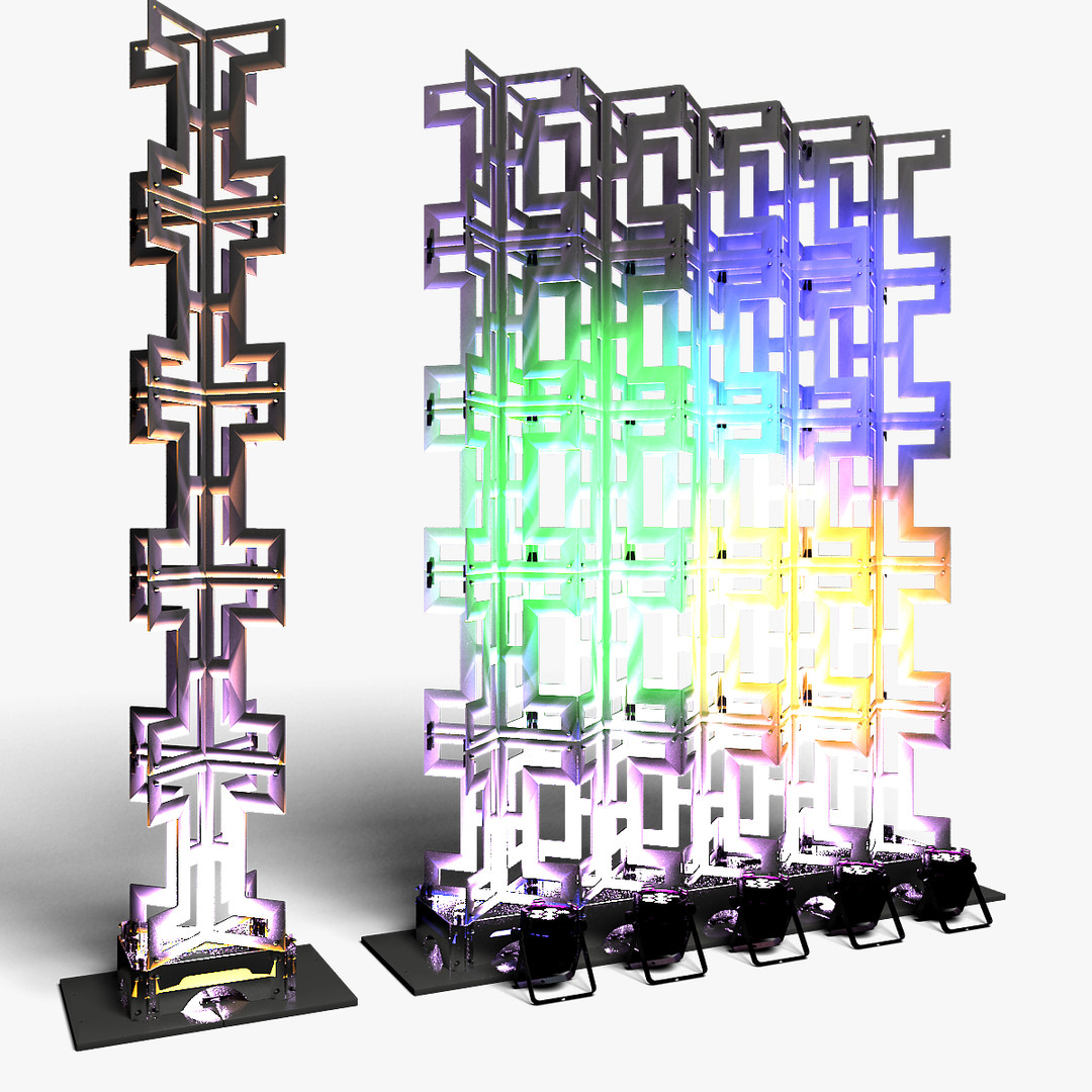 Stage Decor 26 Modular Wall Column