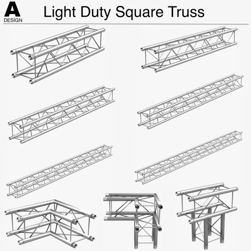 Light Duty Square Truss Collection (9 Modular Pieces)