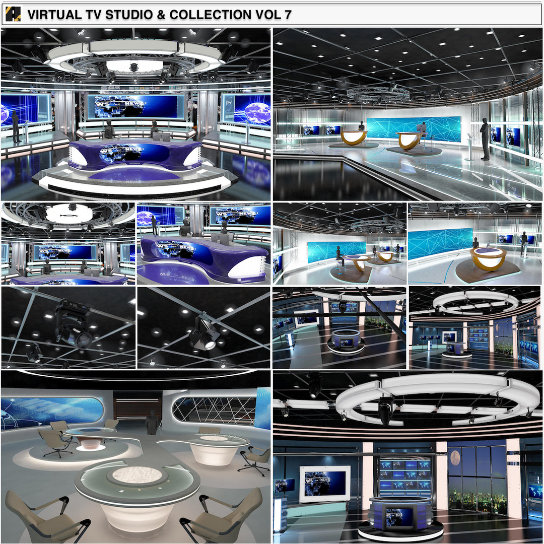 TV Studio News Sets Collection 7
