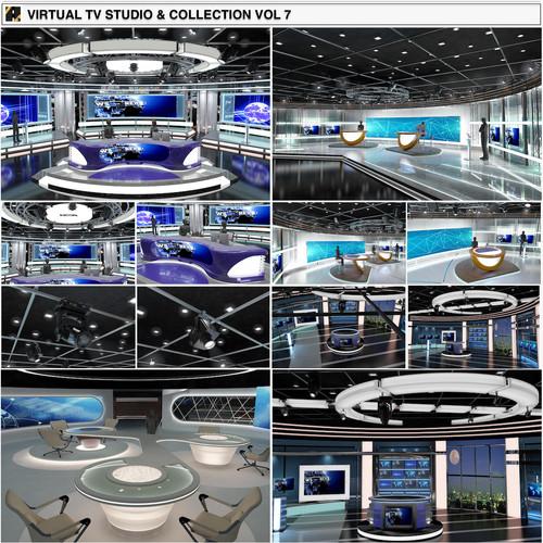 TV Studio News Sets Collection 7