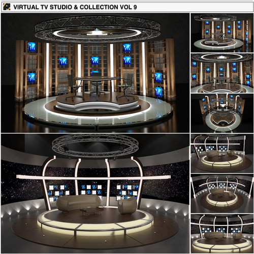TV Studio Chat Sets Collection 9
