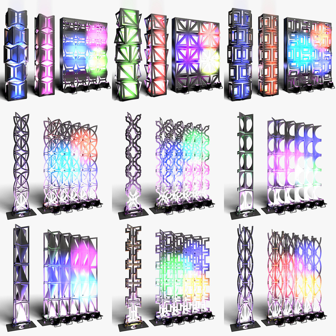 Stage Decor Collection 03 (Modular Wall Column 9 Pieces)