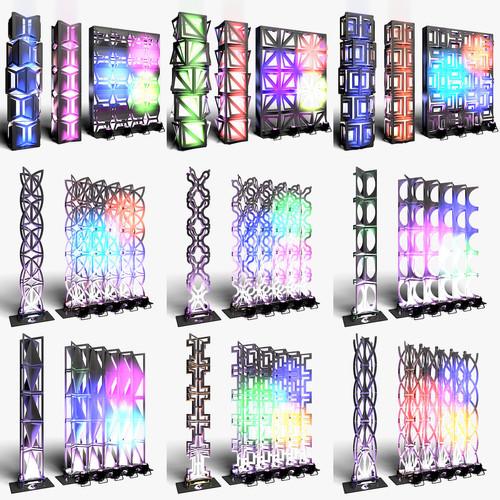 Stage Decor Collection 03 (Modular Wall Column 9 Pieces)
