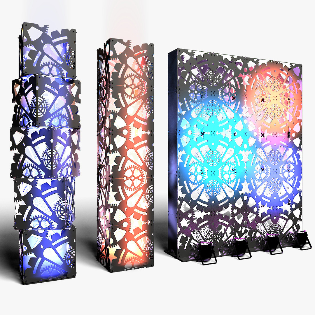Stage Decor 01 Modular Wall Column
