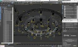 41-01-TVStudioStage-TrussLights-VrayMax.