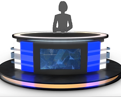 3D Model Store.  Virtual TV Studio News Desks.  Professional 3D models ready to be used in CG projects, film and video production, animation, visualizations, games, VR/AR, and others. Assets are available for download in many industry-accepted formats including MAX, OBJ, FBX, 3DS, STL, C4D, AEP, BLEND, MA, MB and other. If you're in search of quality high poly or real-time 3D assets, we have a leading digital art library for all your needs.  www.akerdesign.com