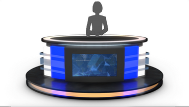 TV Studio News Desk 12