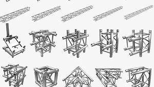3D Model Store.  3D Stage Light Trusses.  Professional 3D models ready to be used in CG projects, film and video production, animation, visualizations, games, VR/AR, and others. Assets are available for download in many industry-accepted formats including MAX, OBJ, FBX, 3DS, STL, C4D, AEP, BLEND, MA, MB and other. If you're in search of quality high poly or real-time 3D assets, we have a leading digital art library for all your needs.  www.akerdesign.com
