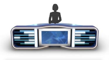 TV Studio News Desk 5