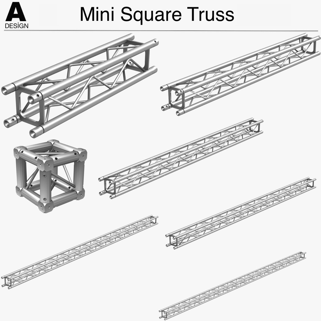 Mini Square Truss Collection (7 Modular Pieces)