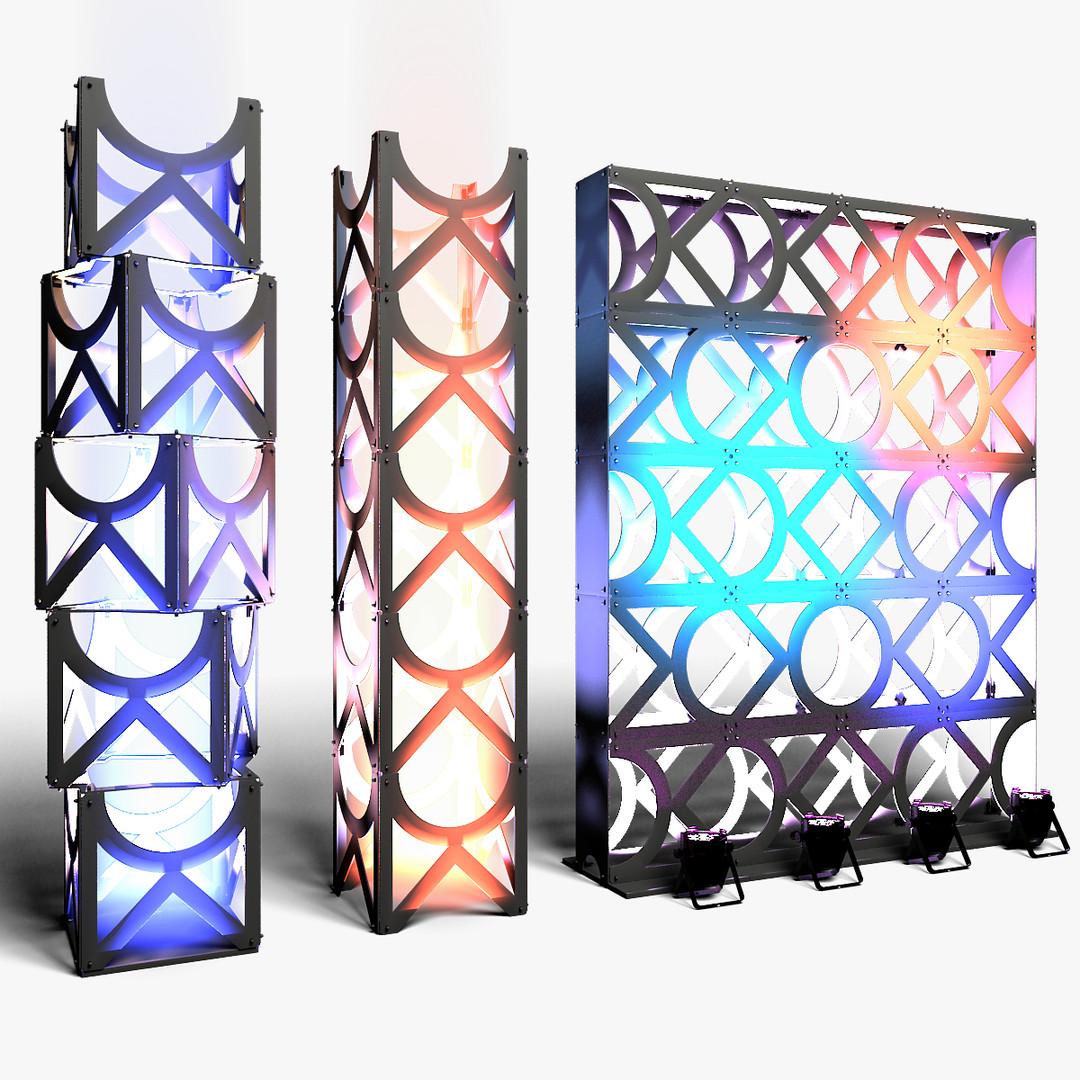 Stage Decor 11 Modular Wall Column