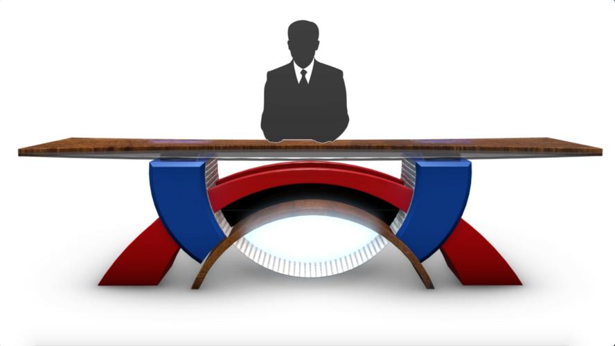 TV Studio News Desk 2