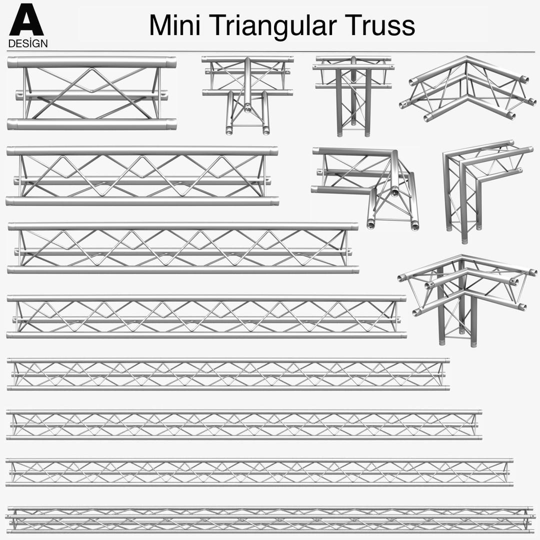 Mini Triangular Truss (Collection 14 Modular Pieces)