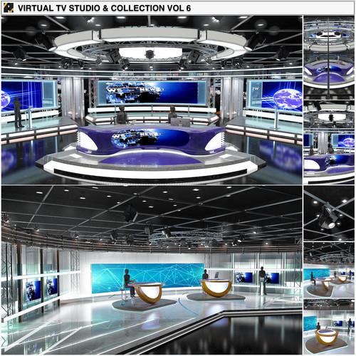 TV Studio News Sets Collection 6