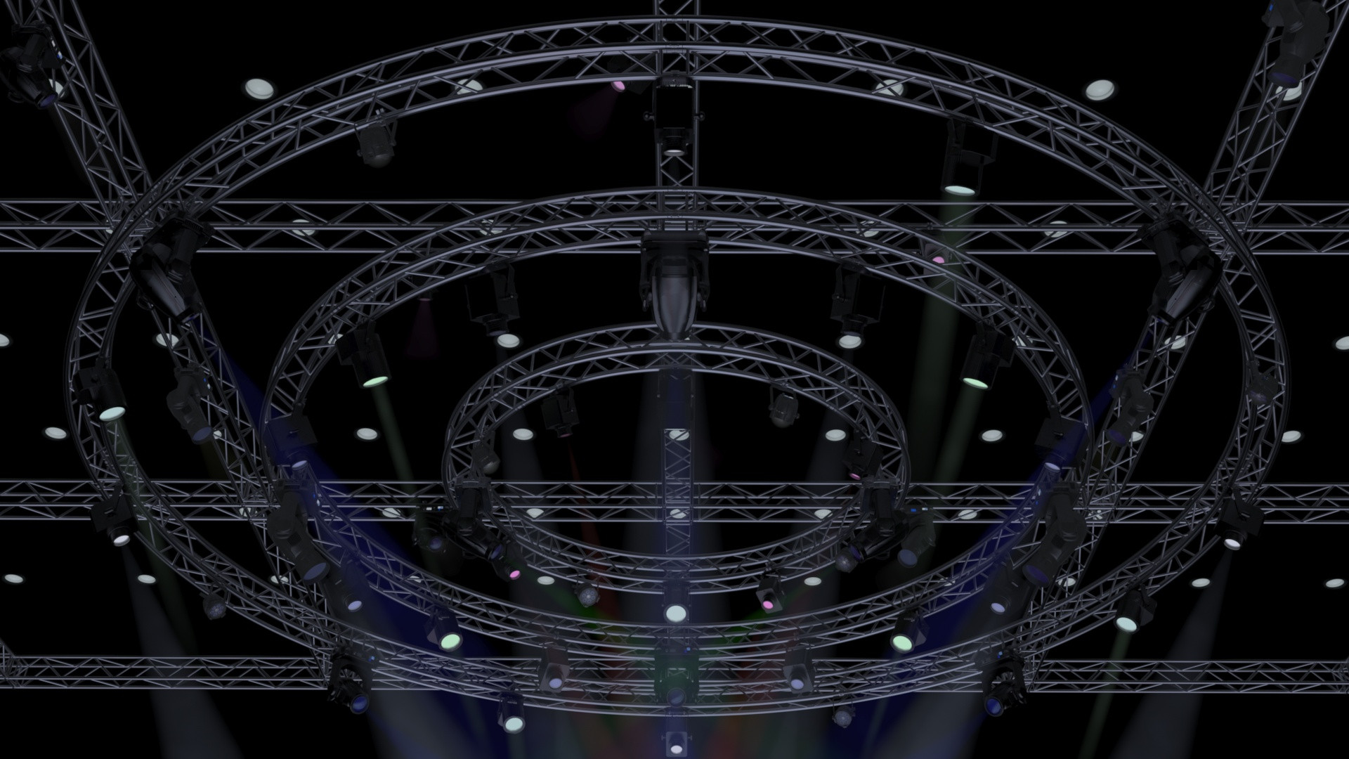 TV Studio Stage-Truss Lights