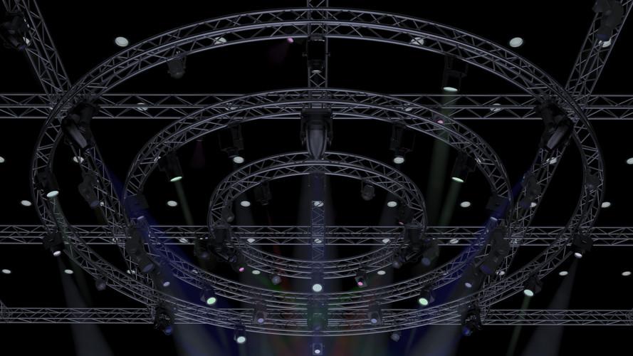 TV Studio Stage-Truss Lights