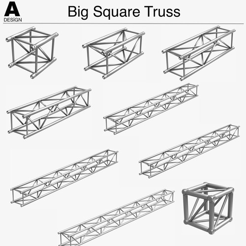 Big Square Truss Collection (10 Modular Pieces)
